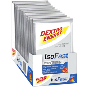 Dextro Energy IsoFast Sachets de Boisson minérale Carbo 12x56g,, Red Orange